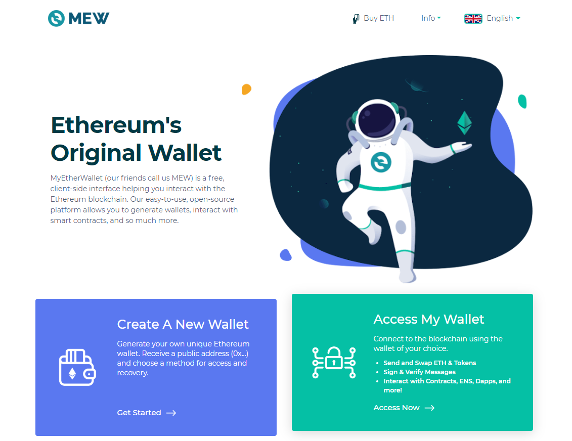Image of MEW main page