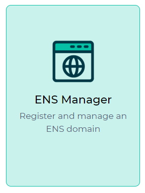 Image of ENS Manager on Dapps page