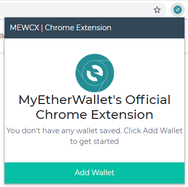 Image of MEW CX 'add wallet'