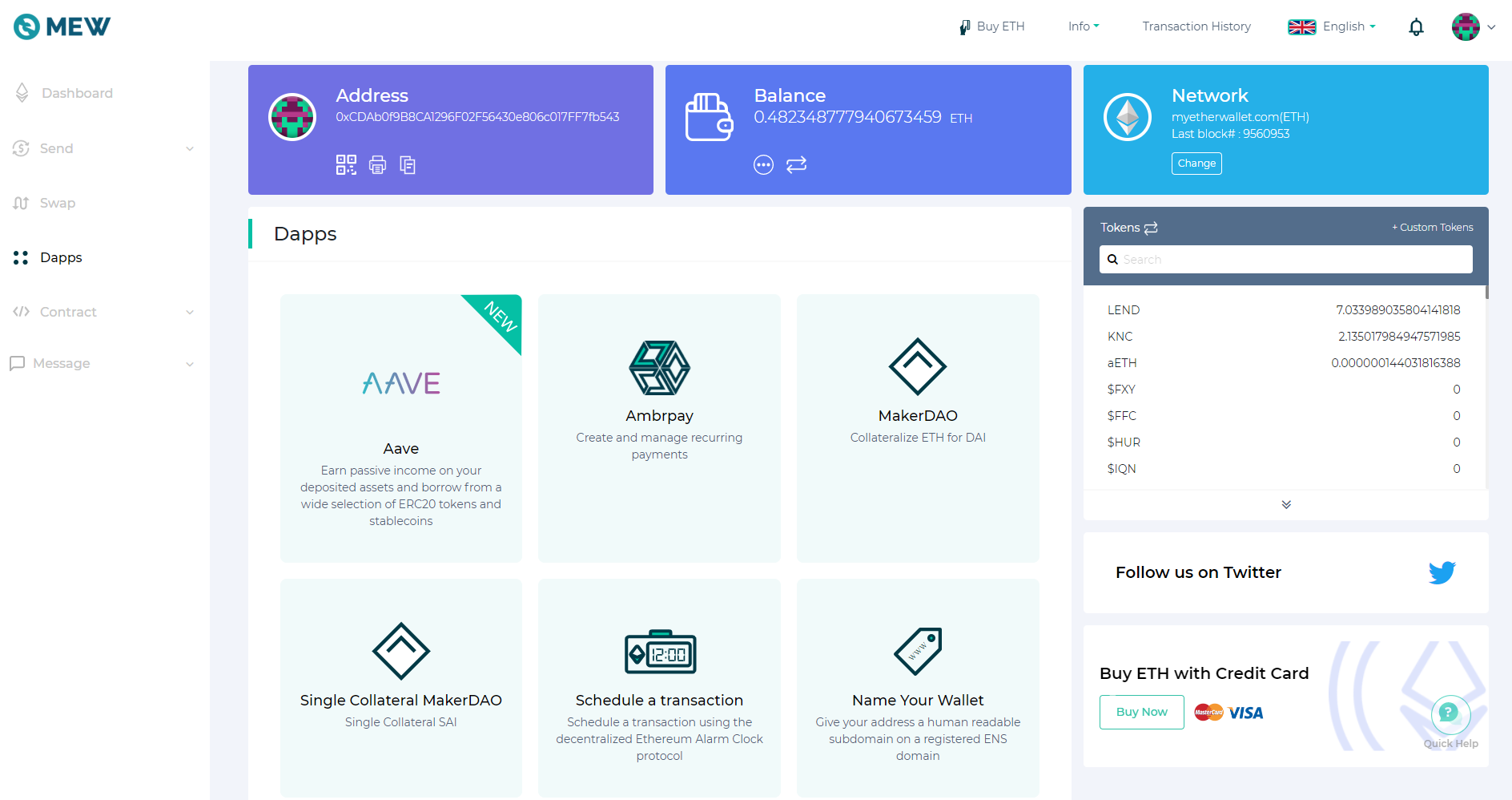 Image of Aave on Dapps page