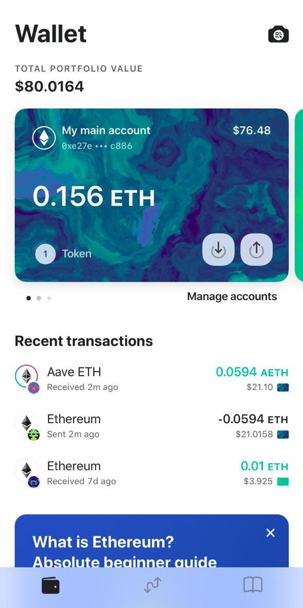 Image of MEW wallet successful transaction
