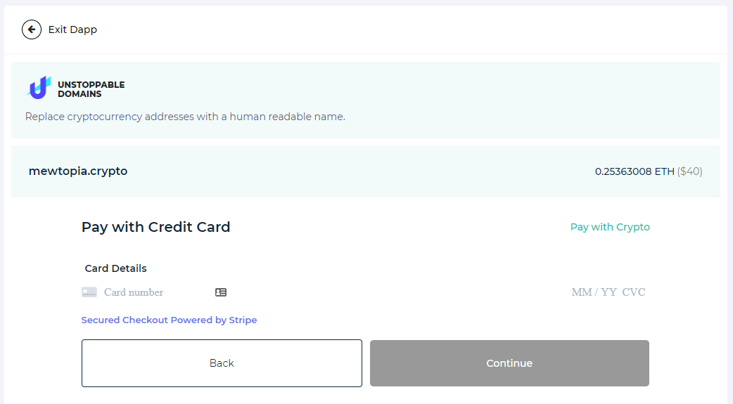 Image of UD credit card payment