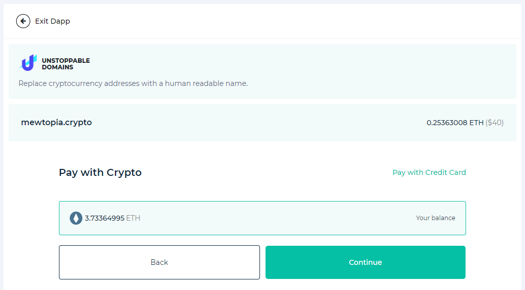 Image of UD crypto payment