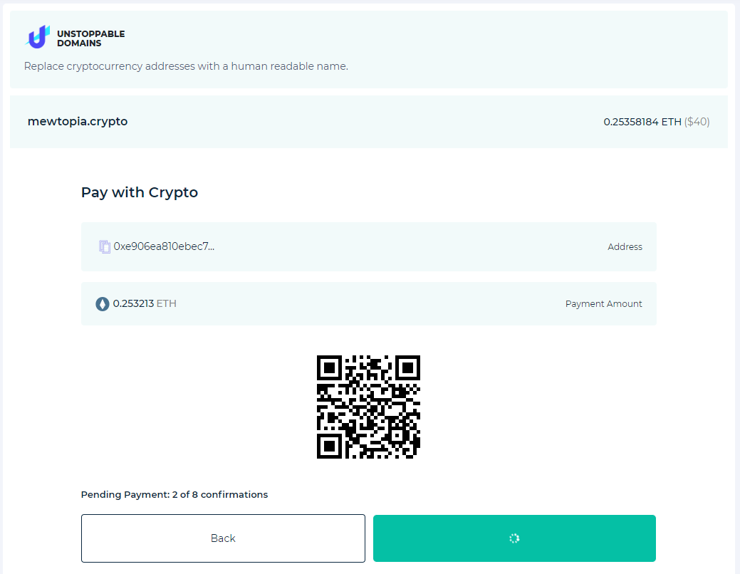 Image of payment confirmation