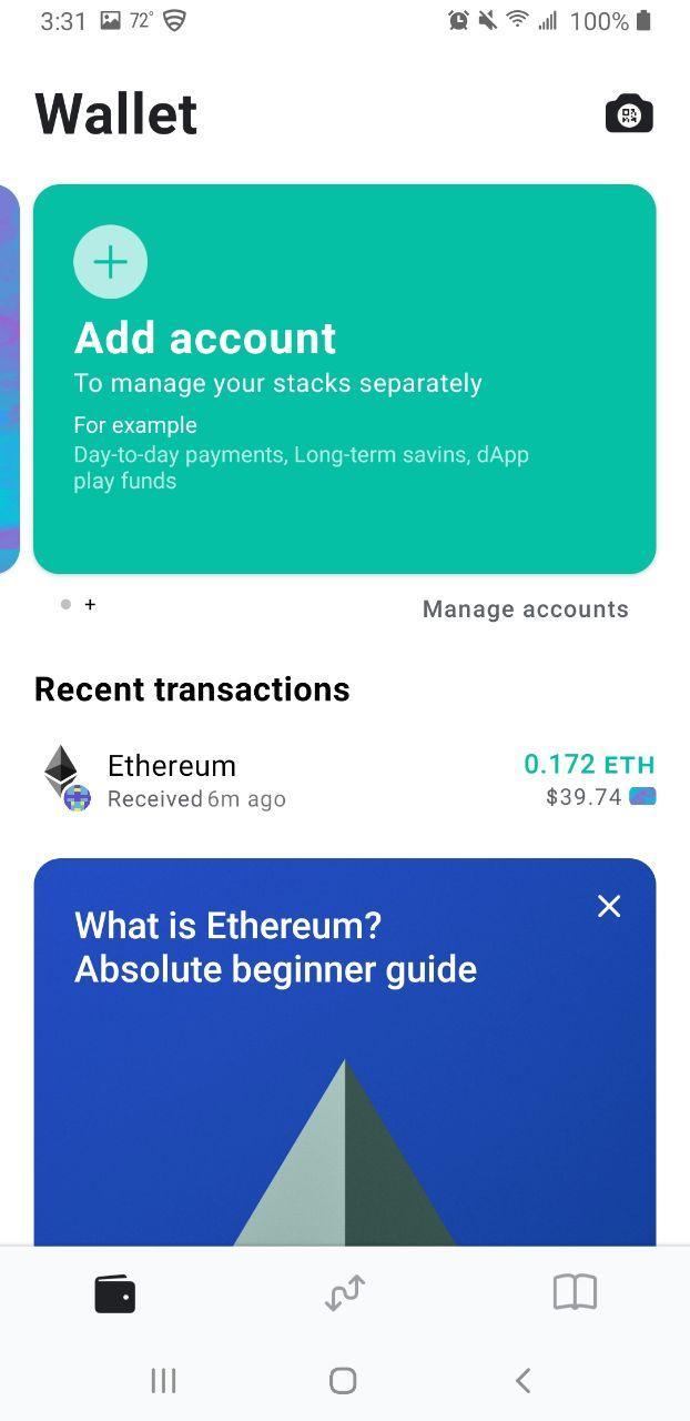 Image of MEW wallet 'Add Account' screen