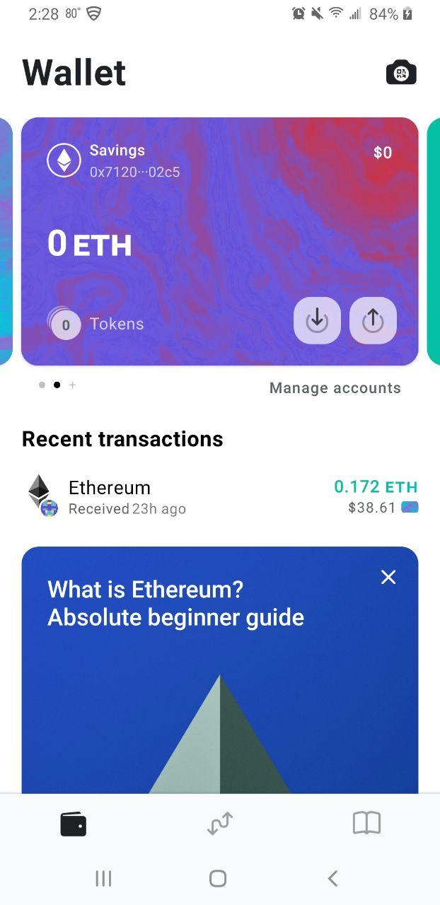 Image of MEW wallet additional account created