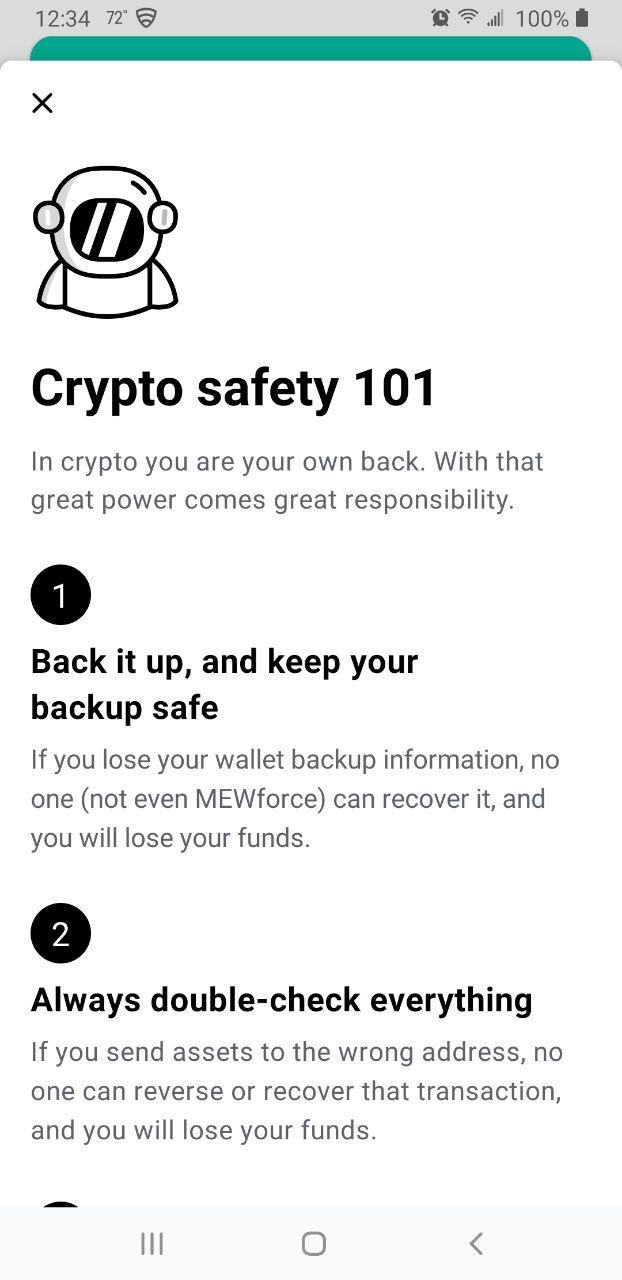 Image of MEW wallet safety tips part 1