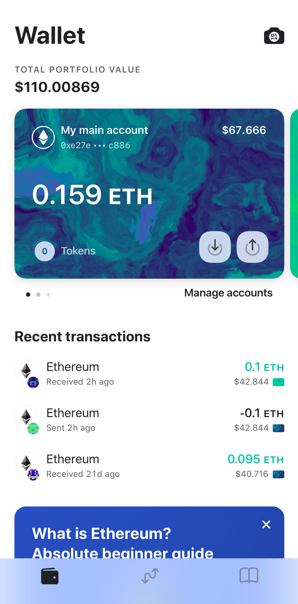 Image of MEW wallet account