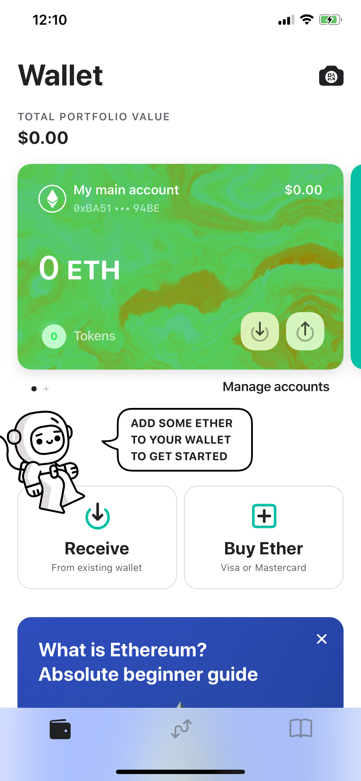 Image of MEW wallet migrated account