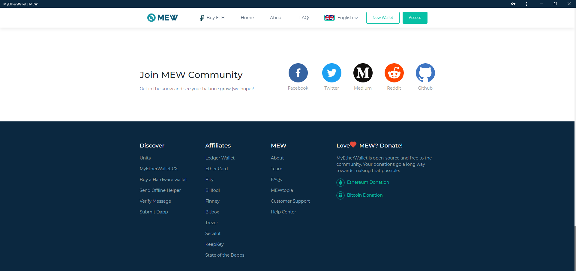 Image of MEW footer